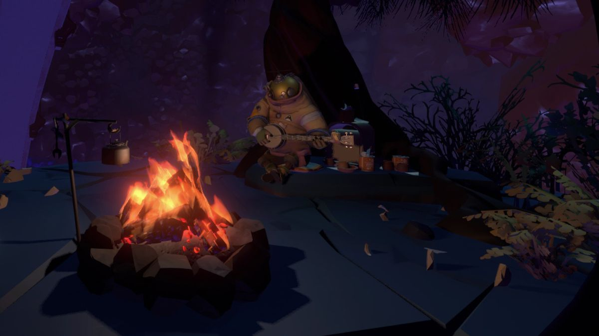 Outer Wilds find Riebeck on Brittle Hollow